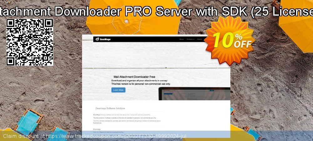 Mail Attachment Downloader PRO Server with SDK - 25 License Pack  coupon on Natl. Doctors' Day super sale