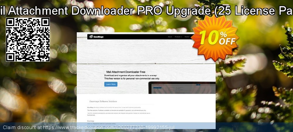 Mail Attachment Downloader PRO Upgrade - 25 License Pack  coupon on Valentine Week deals