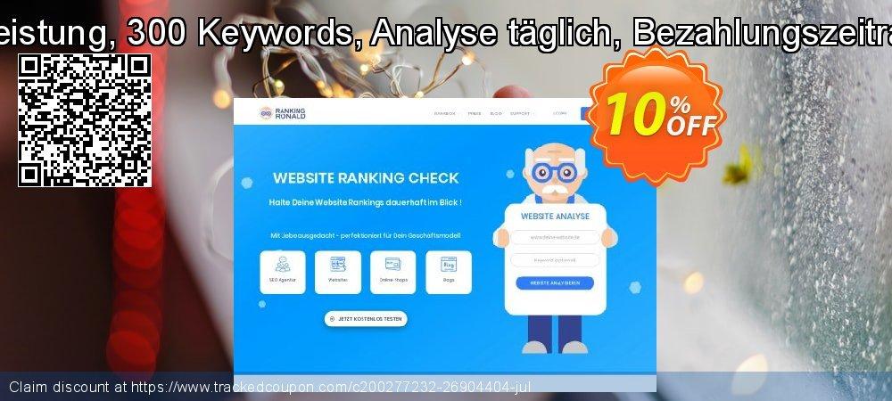 SEO-Dienstleistung, 300 Keywords, Analyse täglich, Bezahlungszeitraum 1 Monat coupon on Mid-year offering discount