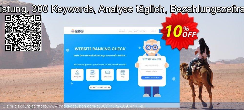 SEO-Dienstleistung, 300 Keywords, Analyse täglich, Bezahlungszeitraum 3 Monate coupon on Summer offering sales