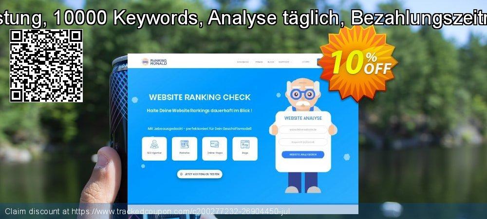 SEO-Dienstleistung, 10000 Keywords, Analyse täglich, Bezahlungszeitraum 3 Monate coupon on Summer offering sales