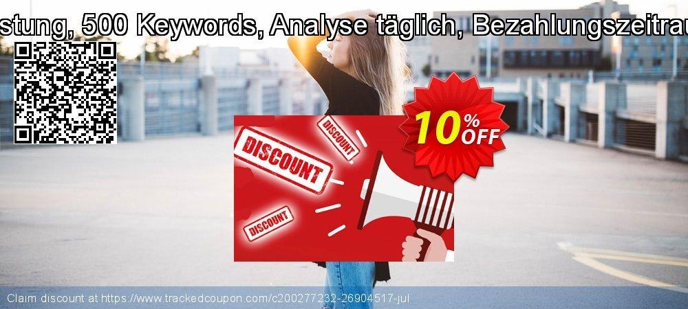 SEO-Dienstleistung, 500 Keywords, Analyse täglich, Bezahlungszeitraum 12 Monate coupon on Father's Day sales