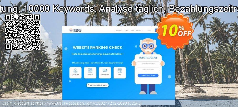 SEO-Dienstleistung, 10000 Keywords, Analyse täglich, Bezahlungszeitraum 12 Monate coupon on Summer offering sales