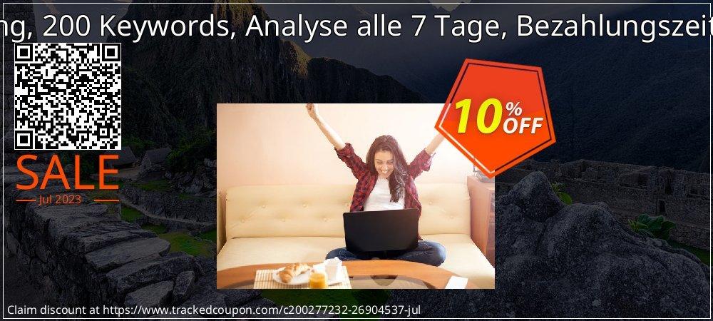 SEO-Dienstleistung, 200 Keywords, Analyse alle 7 Tage, Bezahlungszeitraum 12 Monate coupon on Black Friday discounts