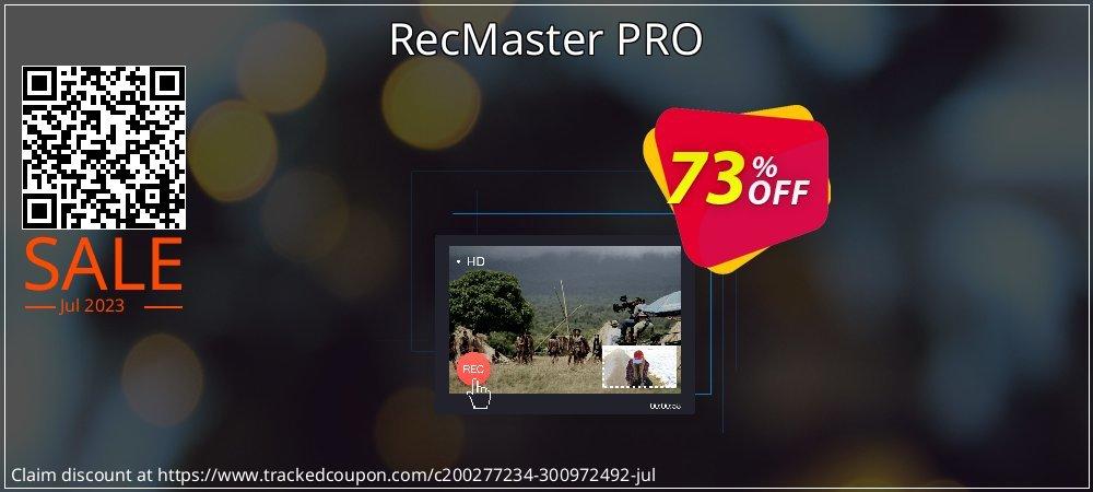 Get 73% OFF RecMaster PRO offering sales