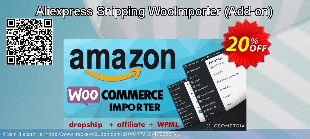 Aliexpress Shipping WooImporter - Add-on  coupon on April Fool's Day offer