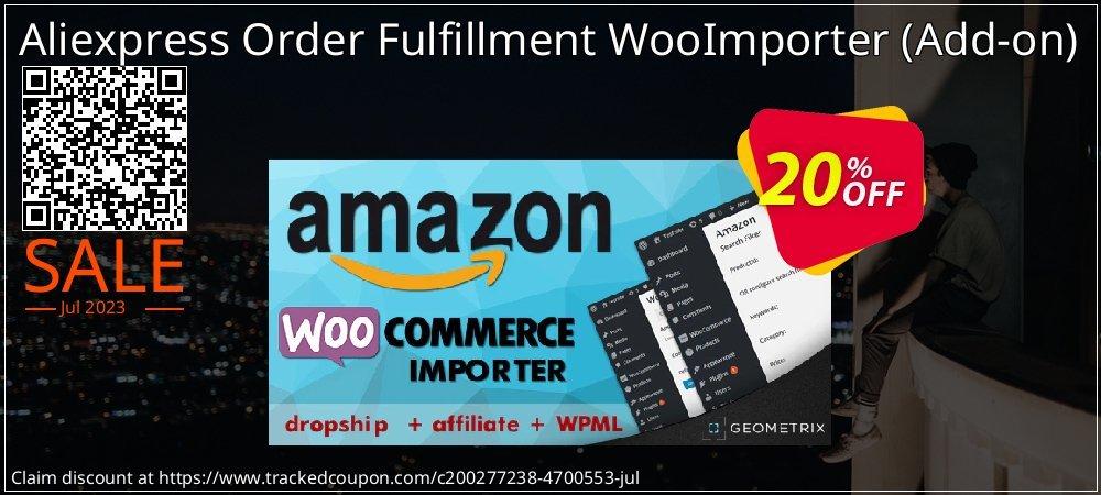 Get 20% OFF Aliexpress Order Fulfillment WooImporter (Add-on) offering sales