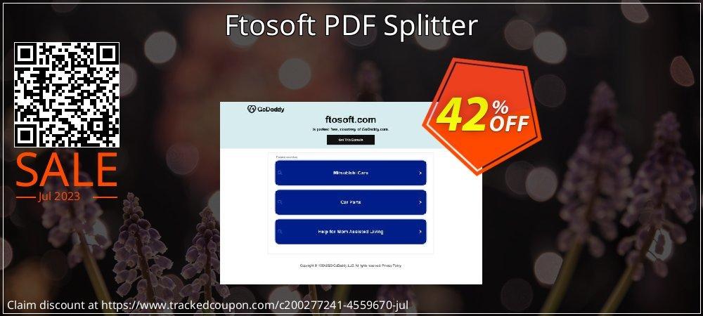 Ftosoft PDF Splitter coupon on Wildlife month offering sales