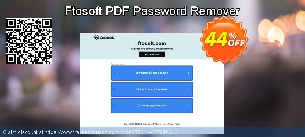 Ftosoft PDF Password Remover coupon on American Chess Day sales
