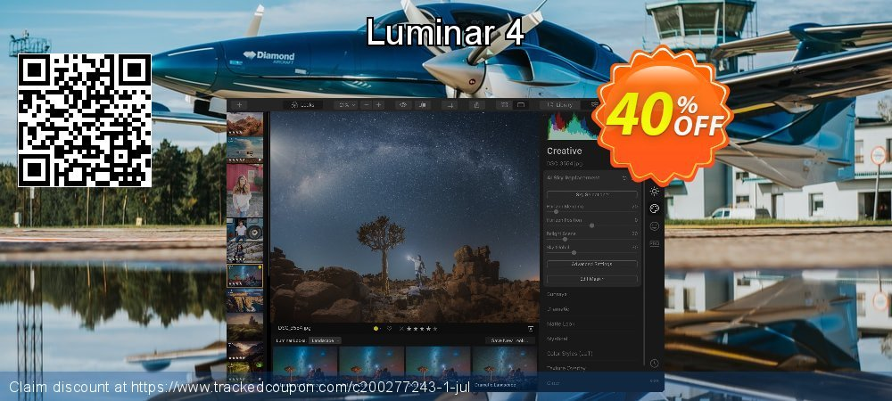 Luminar 4 coupon on National Cleanup Day promotions