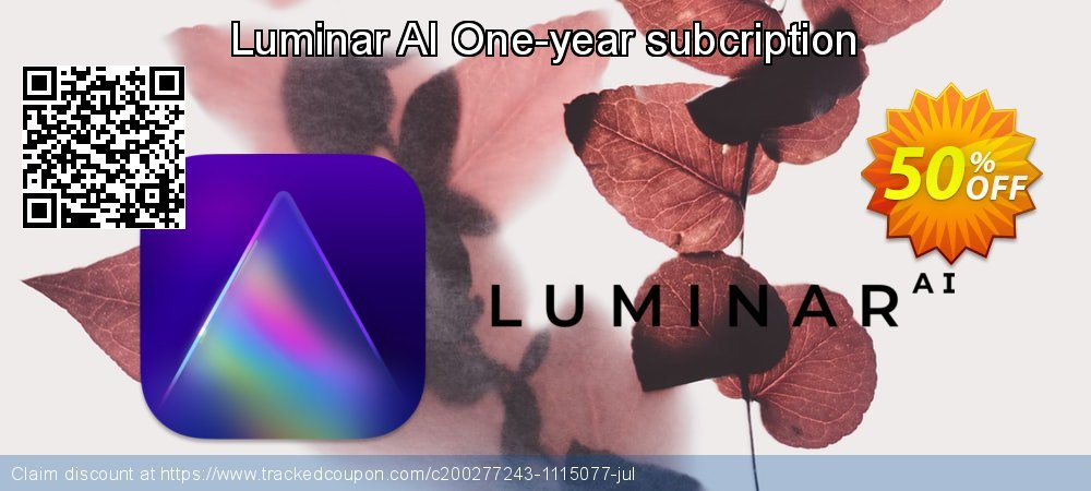 Luminar AI One-year subcription coupon on National Family Day offer
