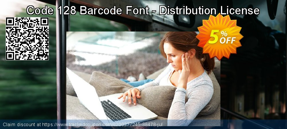 Code 128 Barcode Font - Distribution License coupon on Valentines Day deals