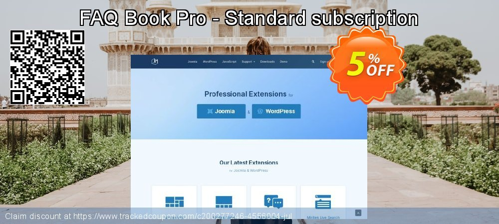 FAQ Book Pro - Standard subscription coupon on Int'l. Women's Day deals