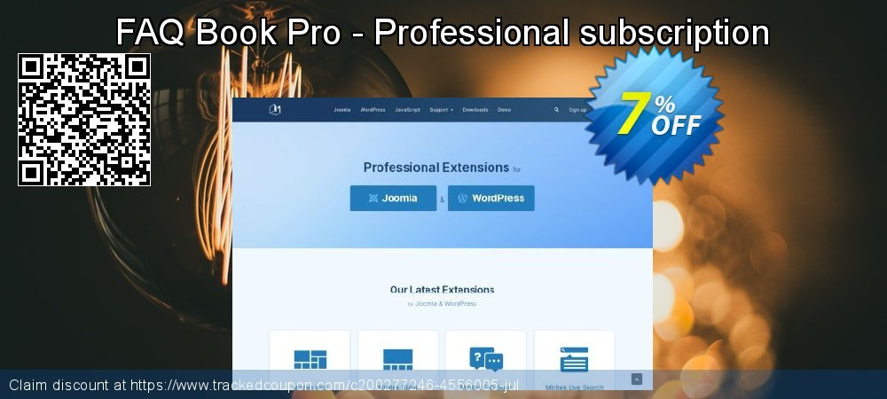 FAQ Book Pro - Professional subscription coupon on Read Across America Day offer