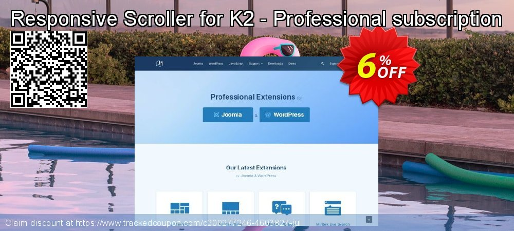 Responsive Scroller for K2 - Professional subscription coupon on Super bowl super sale