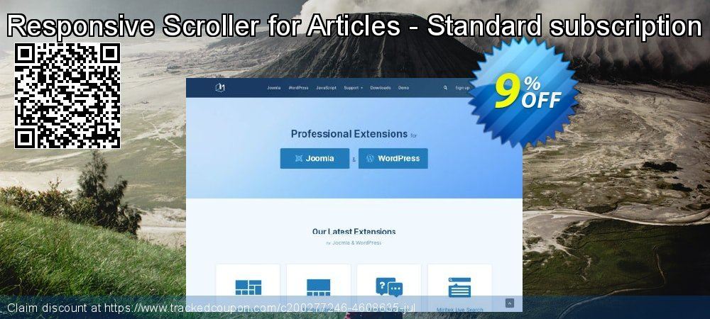 Responsive Scroller for Articles - Standard subscription coupon on Valentine Week promotions