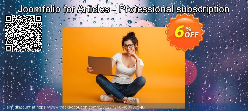 Joomfolio for Articles - Professional subscription coupon on Natl. Doctors' Day sales