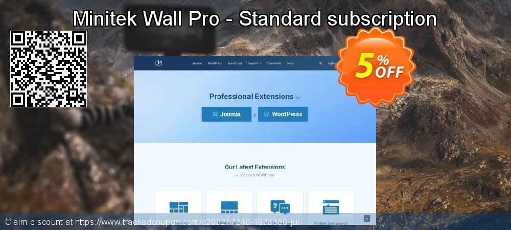 Minitek Wall Pro - Standard subscription coupon on Read Across America Day promotions