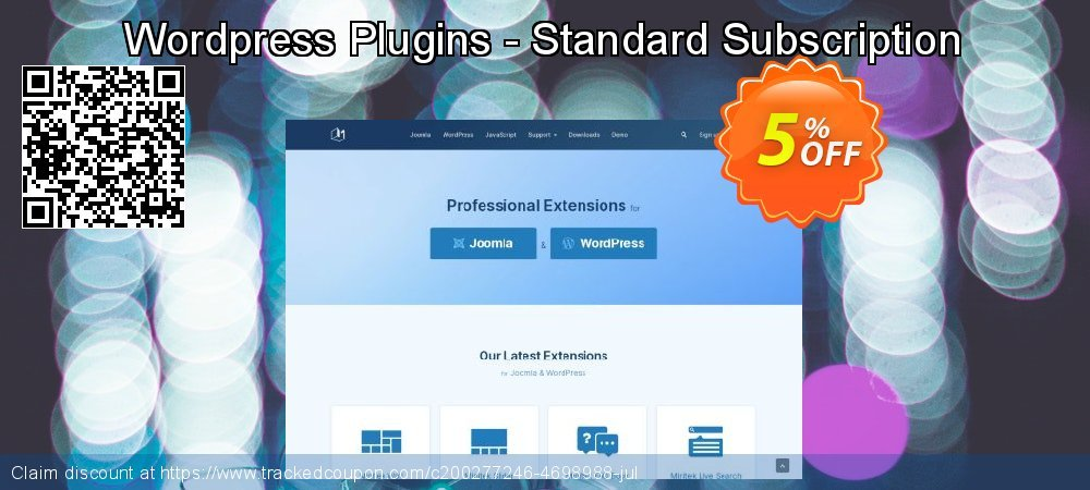 Wordpress Plugins - Standard Subscription coupon on Valentines Day deals