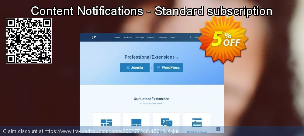 Content Notifications - Standard subscription coupon on  Lover's Day deals