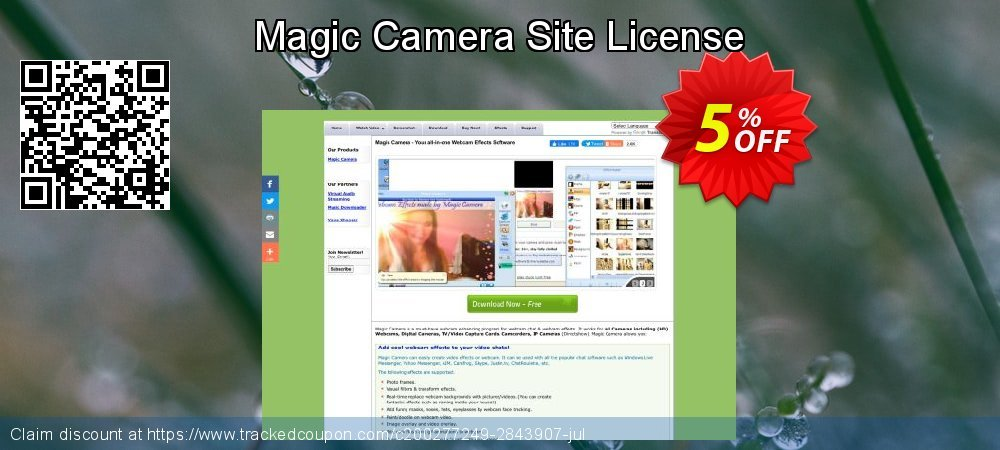 Magic Camera Site License coupon on World Bollywood Day deals