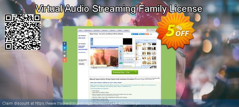 Virtual Audio Streaming Family License coupon on Valentine Week offer