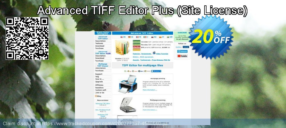 Advanced TIFF Editor Plus - Site License  coupon on  Lover's Day discount