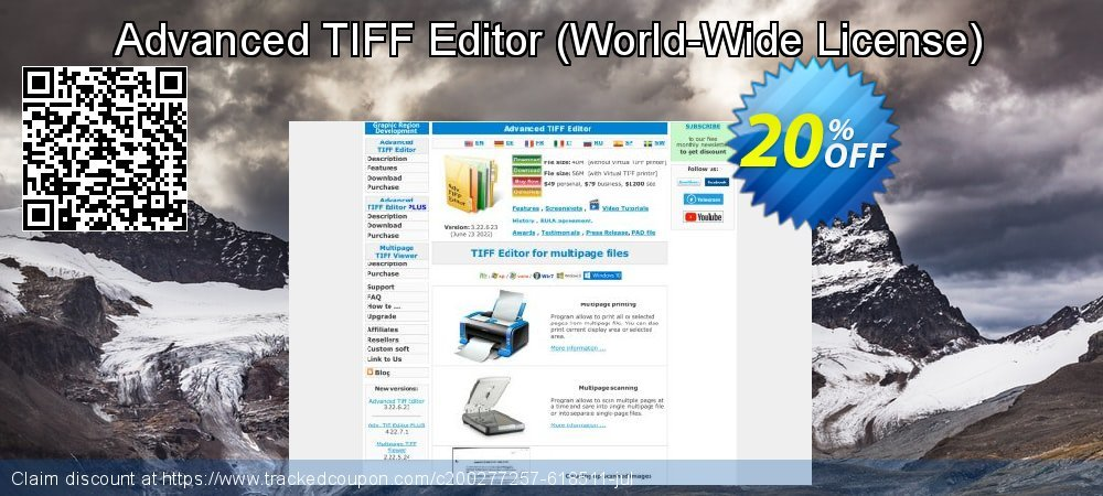 Get 20% OFF Advanced TIFF Editor (World-Wide License) offering sales