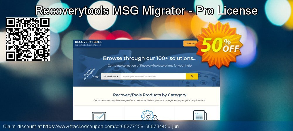 Claim 50% OFF Recoverytools MSG Migrator - Pro License Coupon discount April, 2020