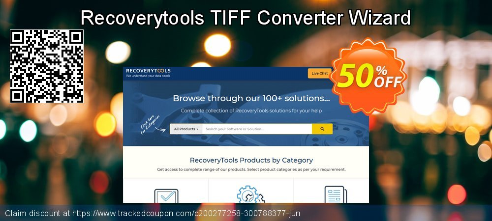 Recoverytools TIFF Converter Wizard coupon on National Singles Day offer