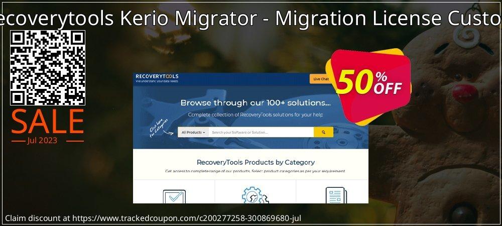 Get 50% OFF Recoverytools Kerio Migrator - Migration License Custom offering deals