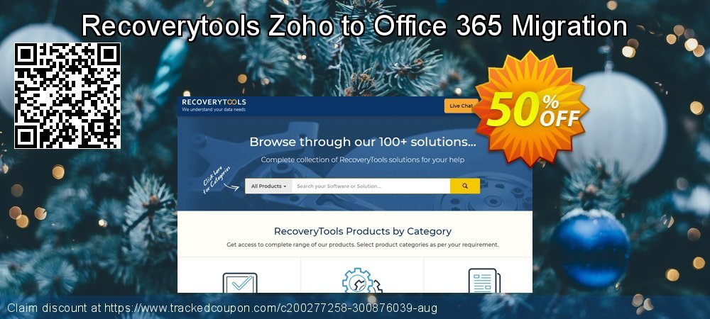 Get 50% OFF Recoverytools Zoho to Office 365 Migration offering sales