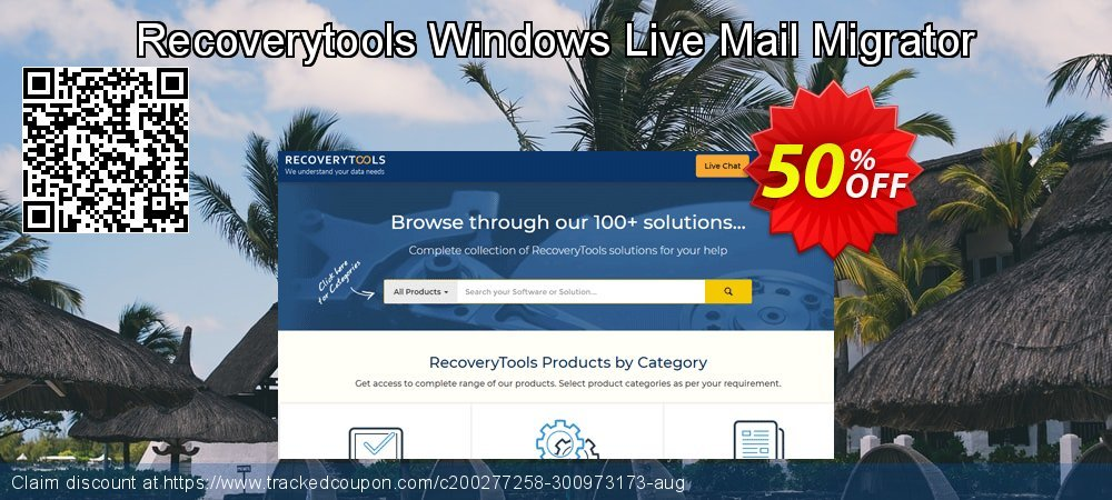 Get 50% OFF Recoverytools Windows Live Mail Migrator discount
