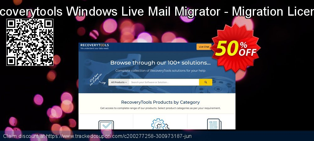 Claim 50% OFF Recoverytools Windows Live Mail Migrator - Migration License Coupon discount March, 2020