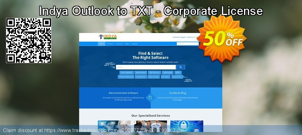 Indya Outlook to TXT - Corporate License coupon on Halloween sales