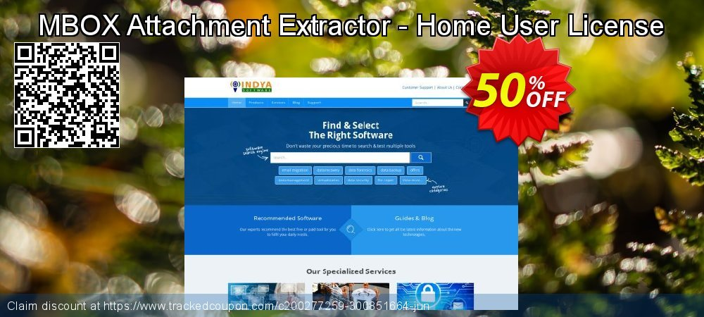 MBOX Attachment Extractor - Home User License coupon on Lazy Mom's Day offer