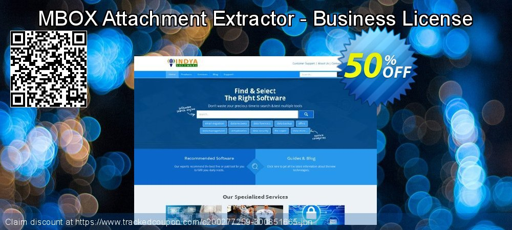 MBOX Attachment Extractor - Business License coupon on Autumn discount
