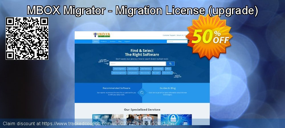 MBOX Migrator - Migration License - upgrade  coupon on World Bollywood Day discount