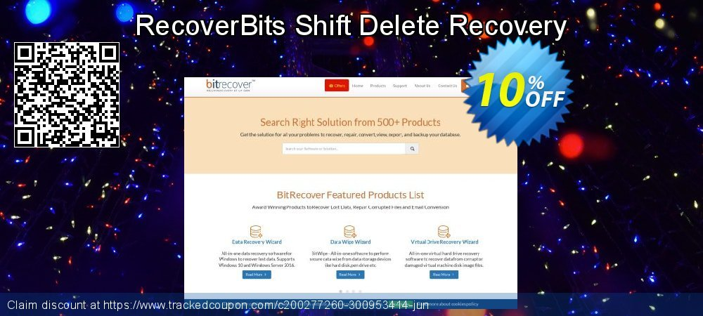 Get 10% OFF RecoverBits Shift Delete Recovery deals