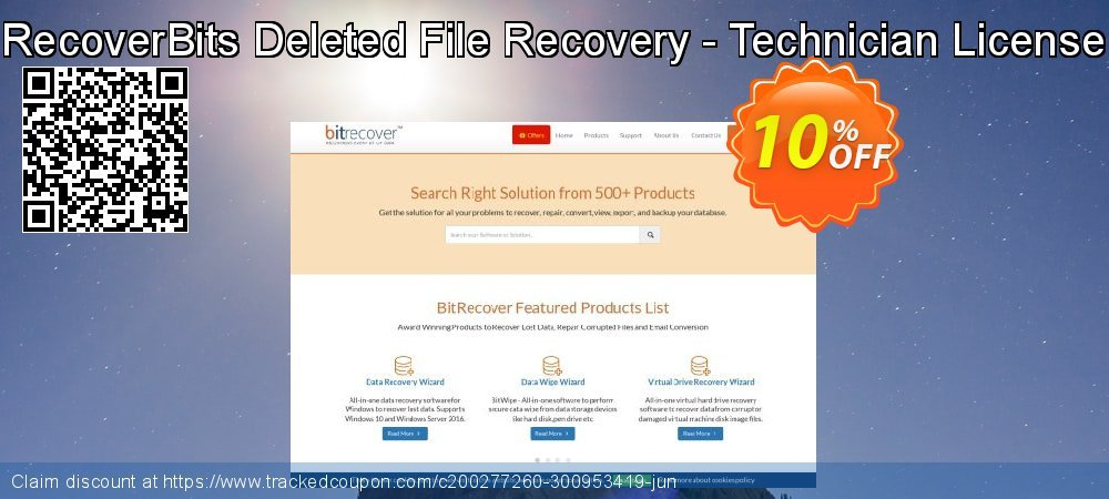 RecoverBits Deleted File Recovery - Technician License coupon on Lazy Mom's Day offering discount