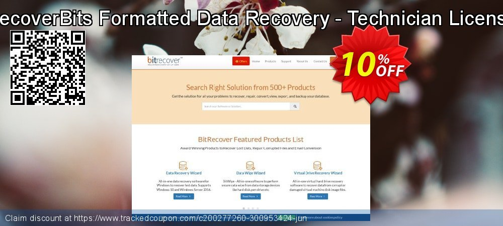 RecoverBits Formatted Data Recovery - Technician License coupon on American Chess Day sales