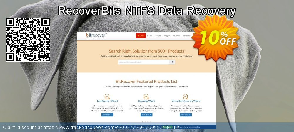 Claim 10% OFF RecoverBits NTFS Data Recovery Coupon discount May, 2020