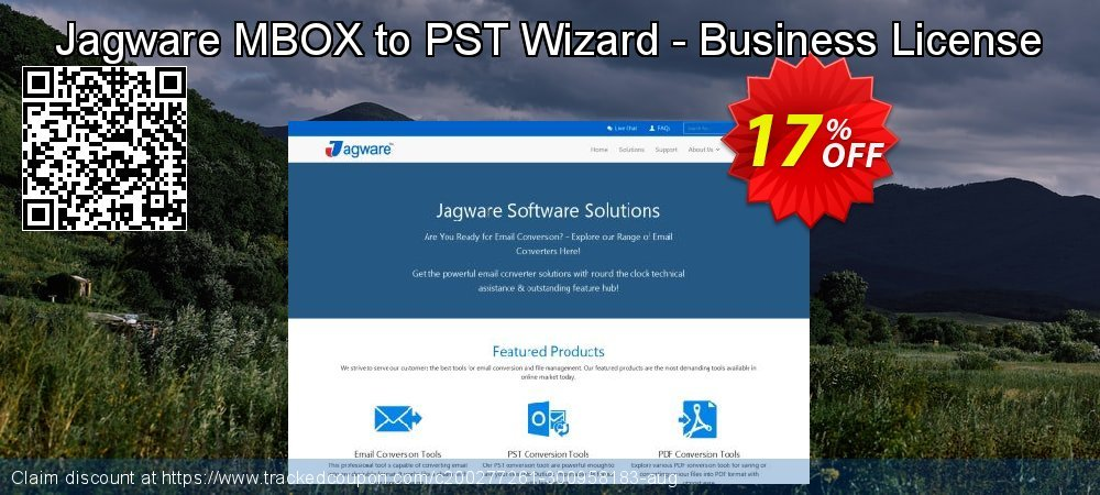 Jagware MBOX to PST Wizard - Business License coupon on National Cleanup Day promotions