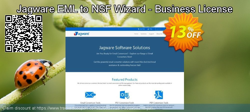 Jagware EML to NSF Wizard - Business License coupon on Sexual Health Day promotions