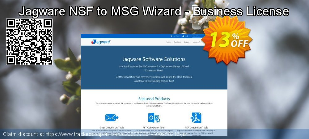 Jagware NSF to MSG Wizard - Business License coupon on Grandparents Day offering sales