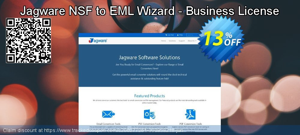 Jagware NSF to EML Wizard - Business License coupon on Talk Like a Pirate Day discounts