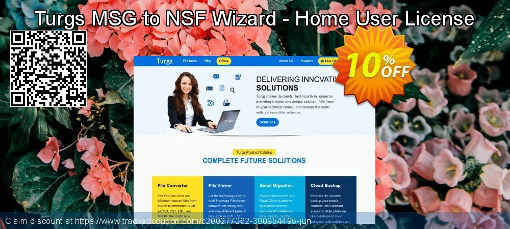 Turgs MSG to NSF Wizard - Home User License coupon on Mid-Autumn Festival offer