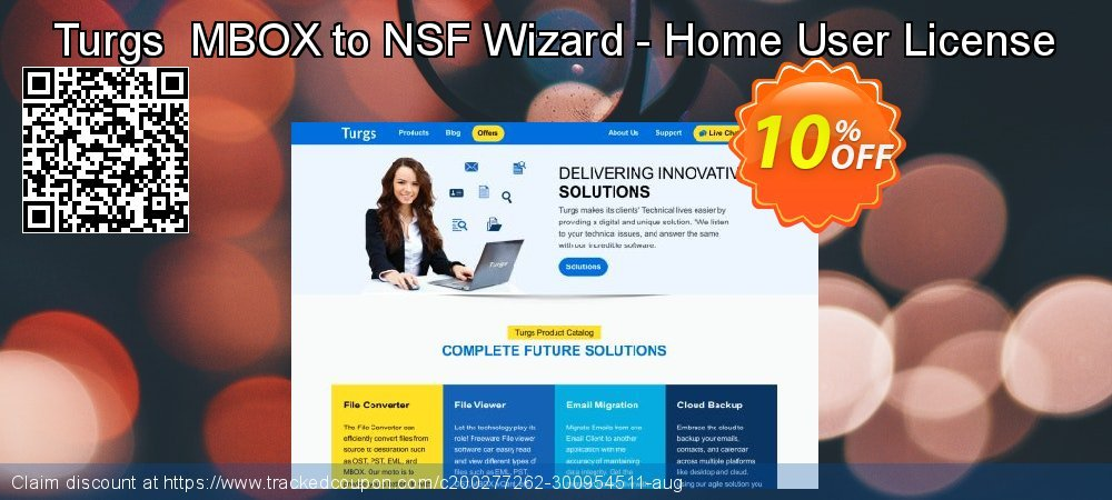 Claim 10% OFF Turgs MBOX to NSF Wizard - Home User License Coupon discount February, 2020