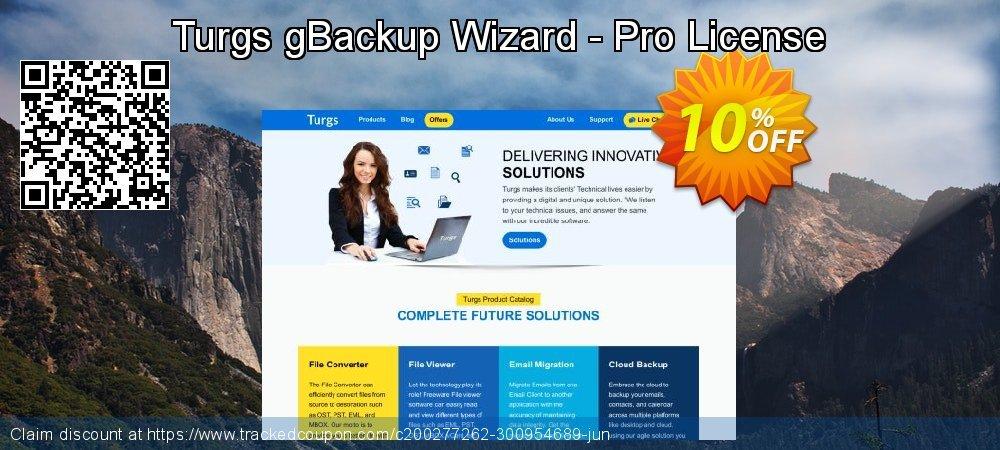 Turgs gBackup Wizard - Pro License coupon on World Bollywood Day discounts