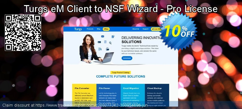 Turgs eM Client to NSF Wizard - Pro License coupon on National Coffee Day offering sales